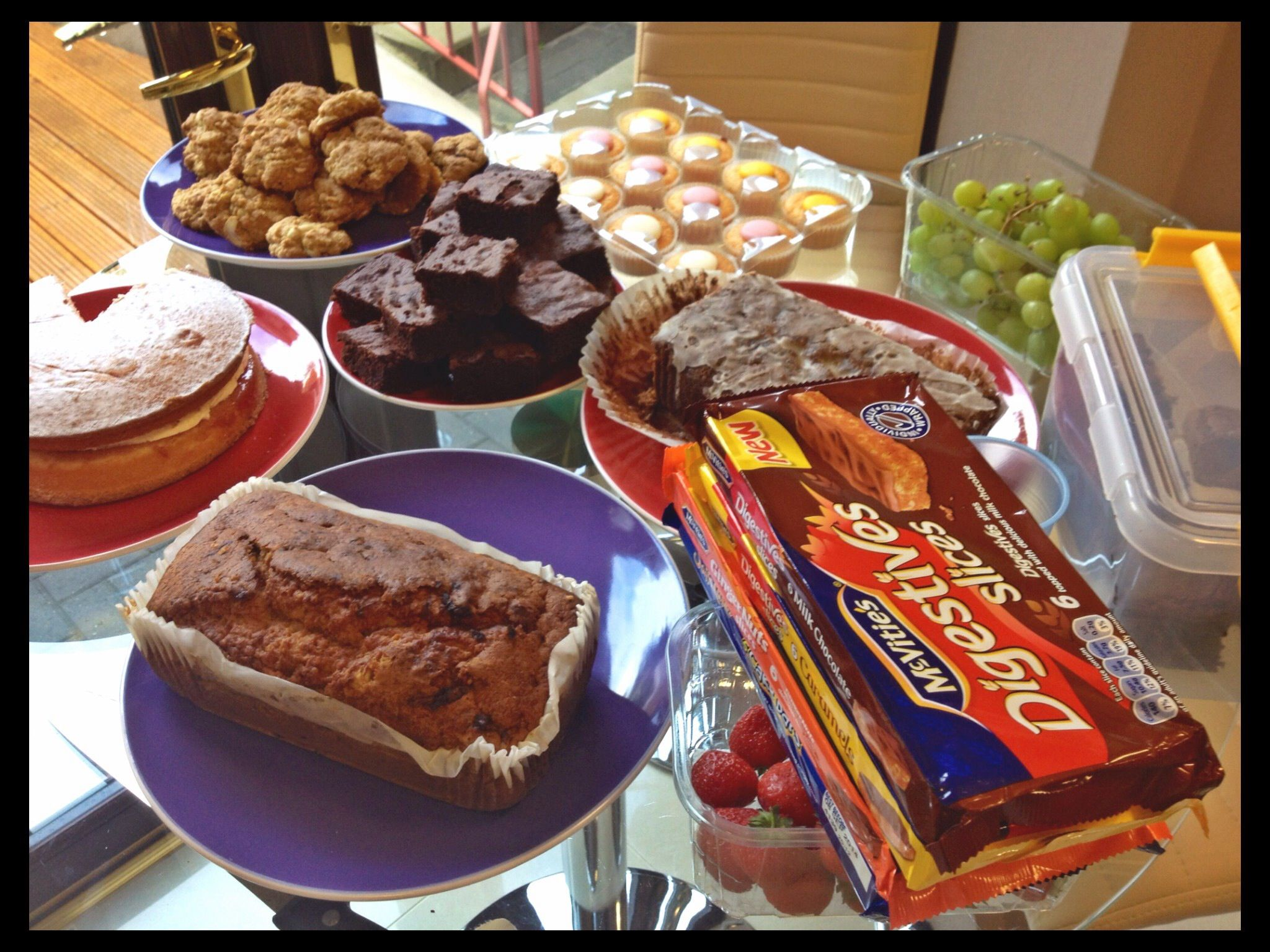 Dress-Down Cake Day Friday! Today we are raising money for @woodlandtrust. We have a yummy selection of cakes to keep us going today! #fundraising #cakeday #dressdownfriday