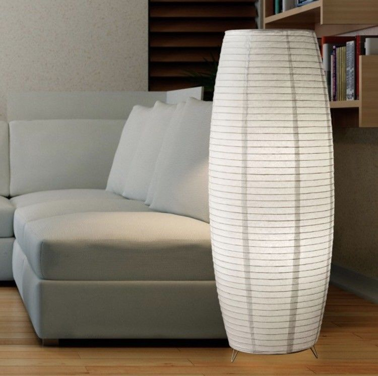 Floor Lamps For Living Room Rice Paper Lanterns White Asian Style