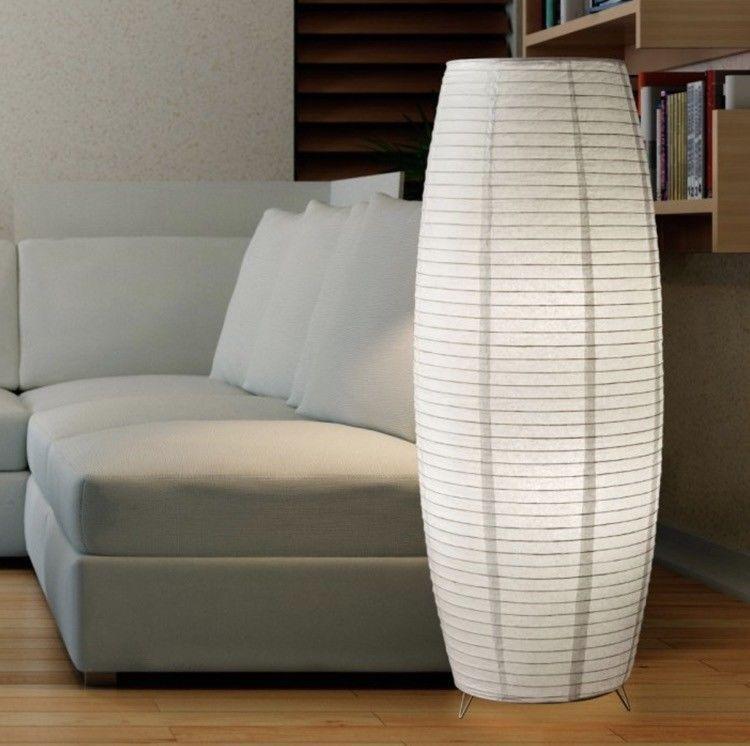 Floor Lamps For Living Room Rice Paper Lanterns White Asian Style