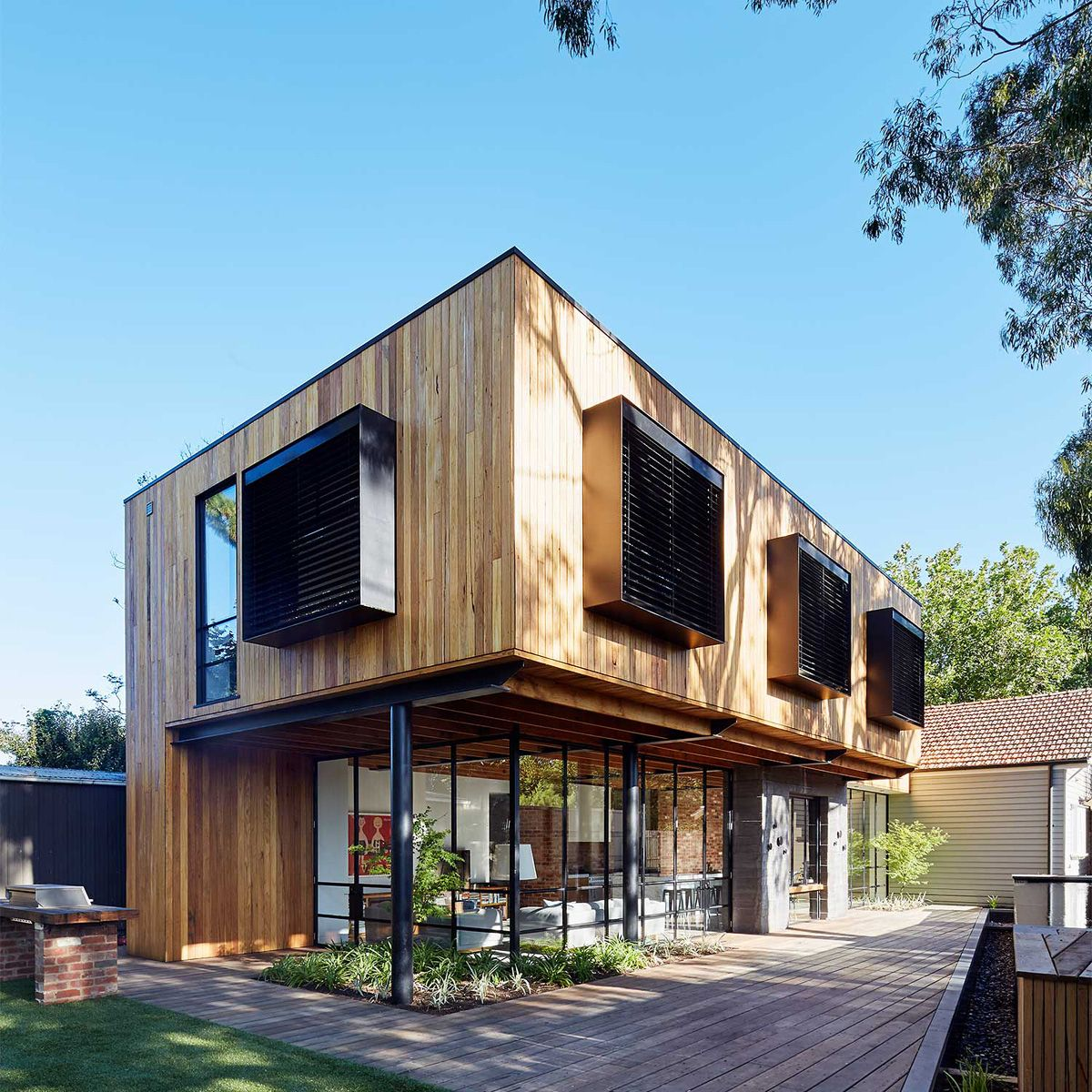 Wooden Houses Modern Wooden House Architecture House In The Woods