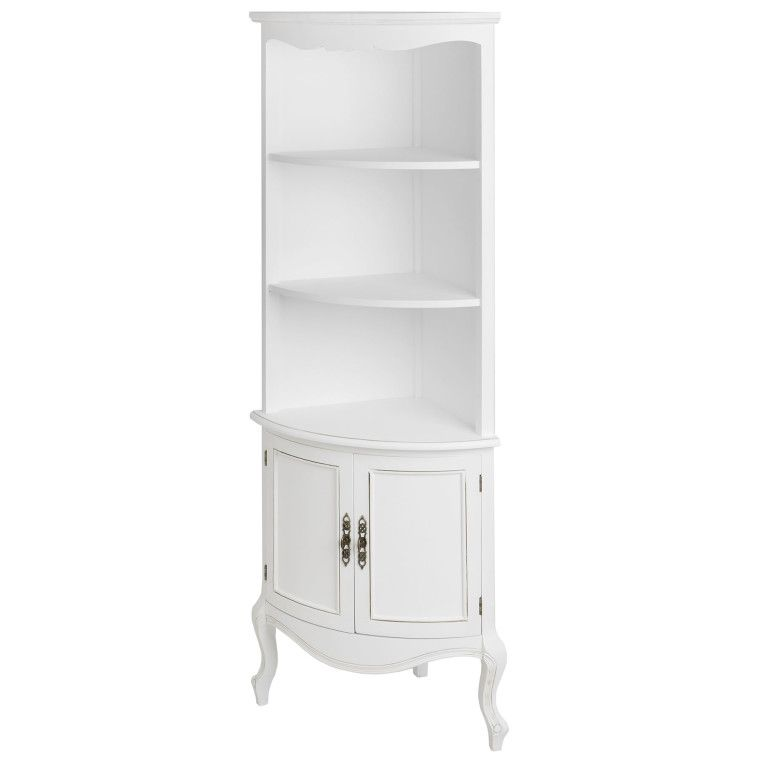 Furniture White Gloss Tall Corner Shelf Unit With Cabinet Doors Tall Corner Shelf To Enliven Dull Corner Display Cabinet White Corner Bookcase Corner Shelves