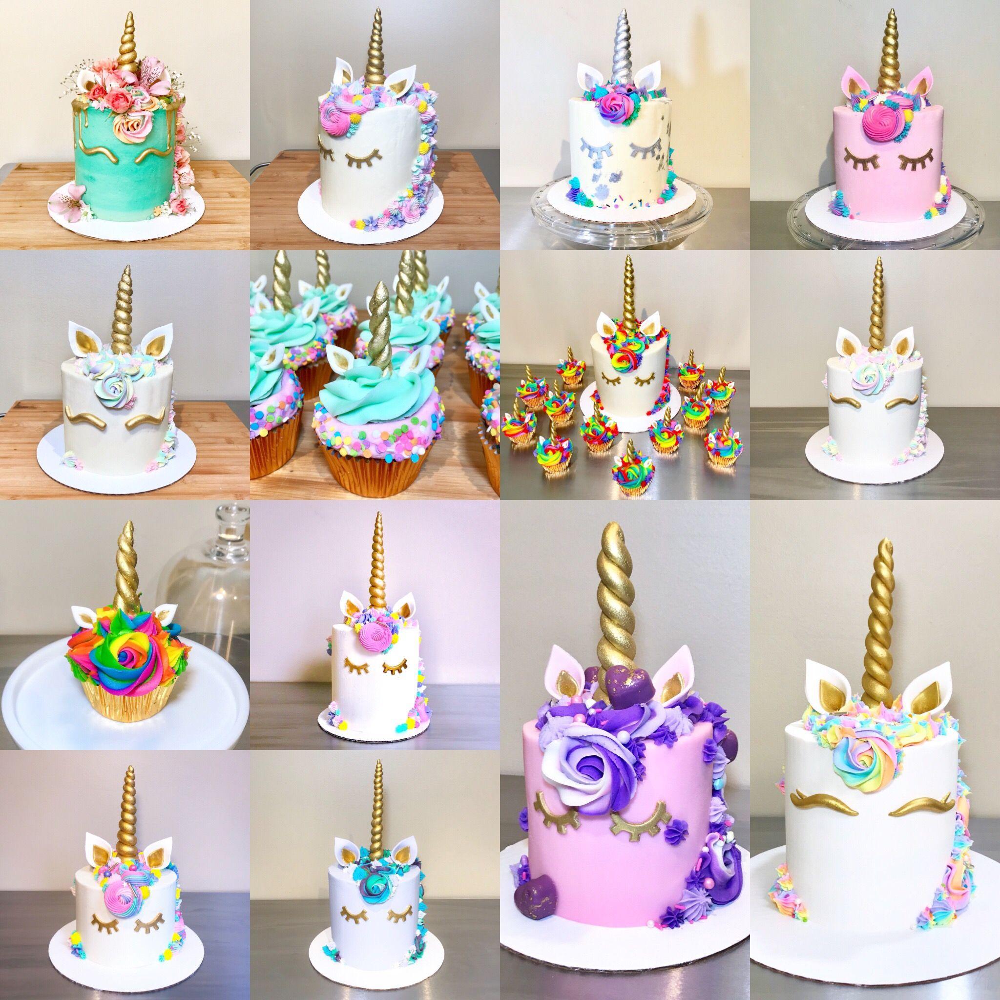 Rainbow Unicorn Cake With Images Unicorn Birthday Cake