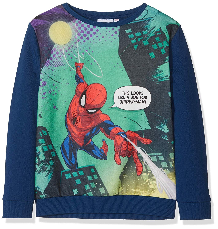 Marvel Spiderman Boy S This Looks Like A Job For Spider Man Sweatshirt Blue Amazon Co Uk Clothing Mens Sweatshirts Sweatshirts Spiderman [ 1500 x 1422 Pixel ]