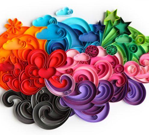 Yulia brodskaya makes stunning quilled paper art