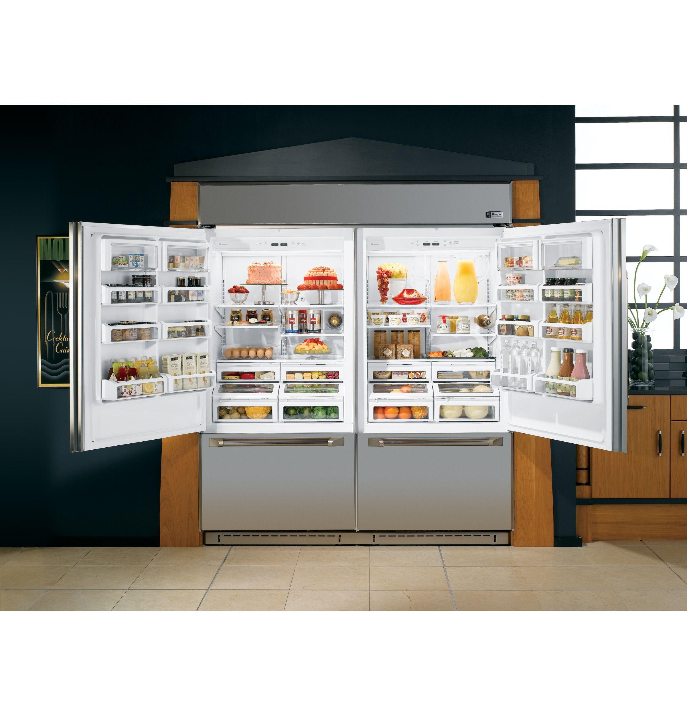 Ge Monogram 72 Professional Built In Bottom Freezer Refrigerator