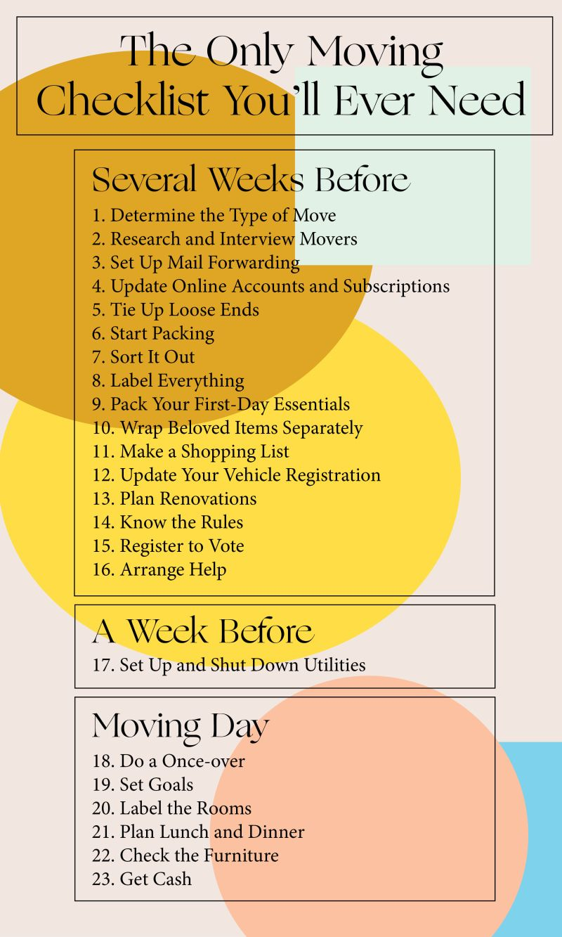 The Only Moving Checklist You Need Moving Checklist Moving House Tips Moving Tips