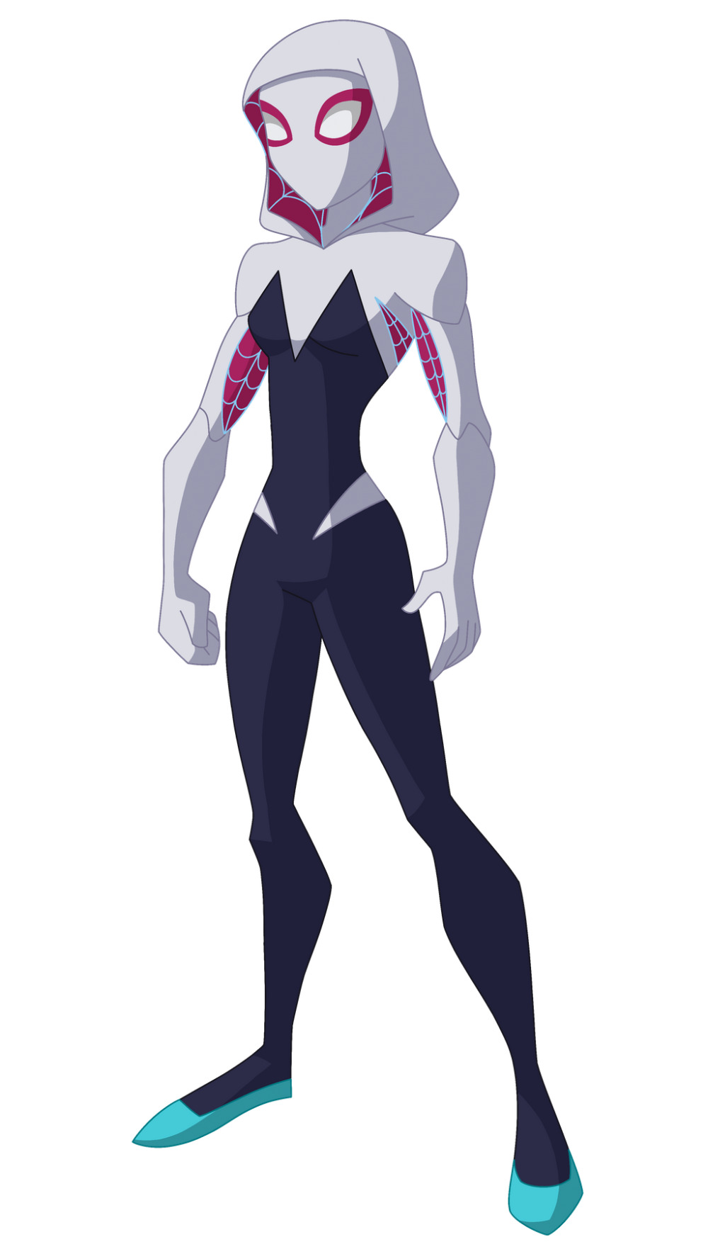 Gwendolyne Maxine Stacy Aka Spider Gwen Daughter Of George Stacy Helen Stacy Croquis Anime Heroines
