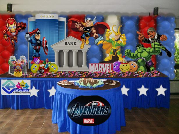 Pin By Zulmy Luna On Superhero Party Avenger Birthday Party Avengers Party Happy Party