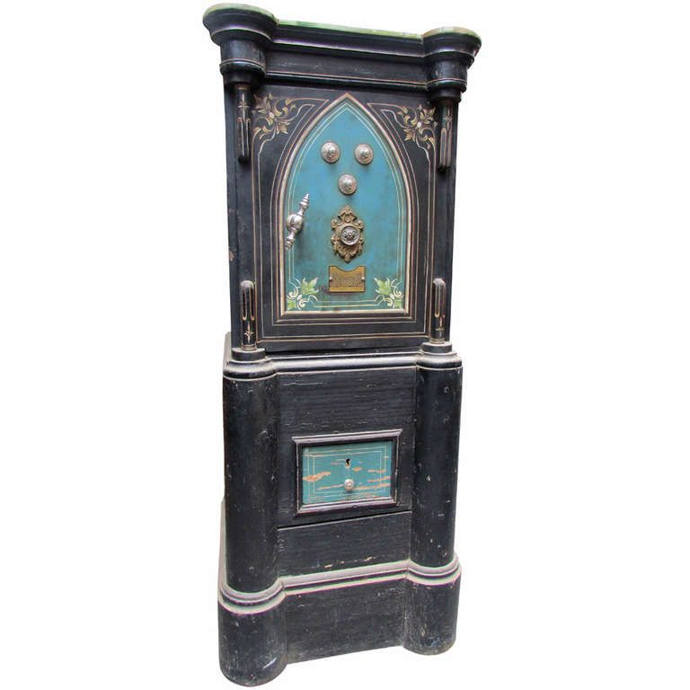 1stdibs | Rare 19th Century Colonial Iron and Wood Safe Strong Box Napoleon III