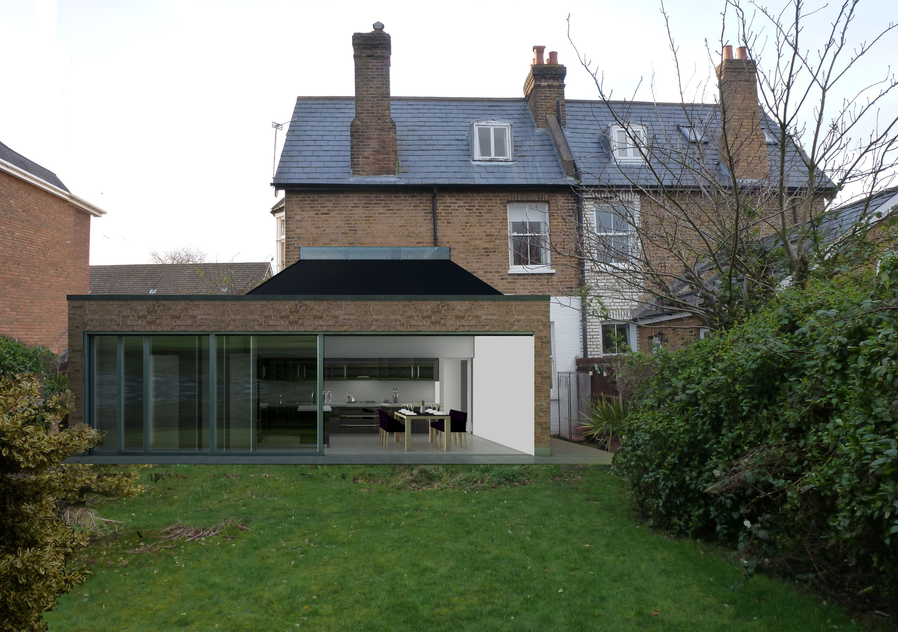 Rear Extension Flat Roof With Parapet Roof Types