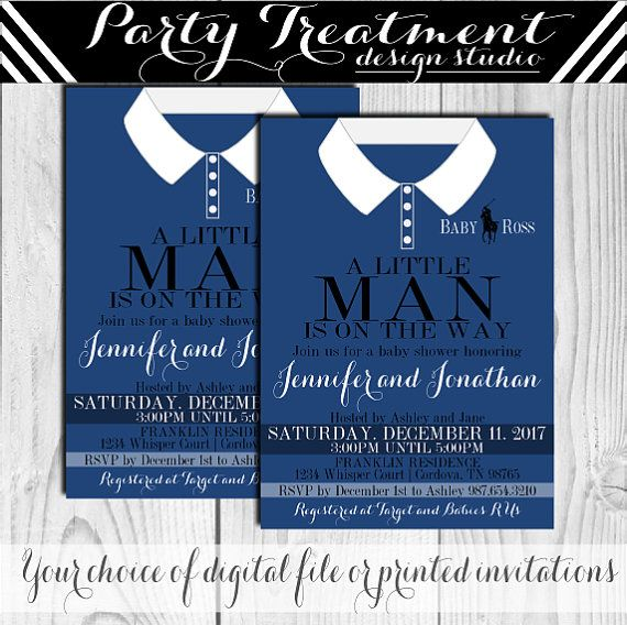 A Little Man is on the Way Polo Style shirt Baby by PartyTreatment