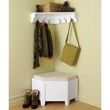 Corner Foyer Seat Coat Storage Entryway Shoe Hallway Storage