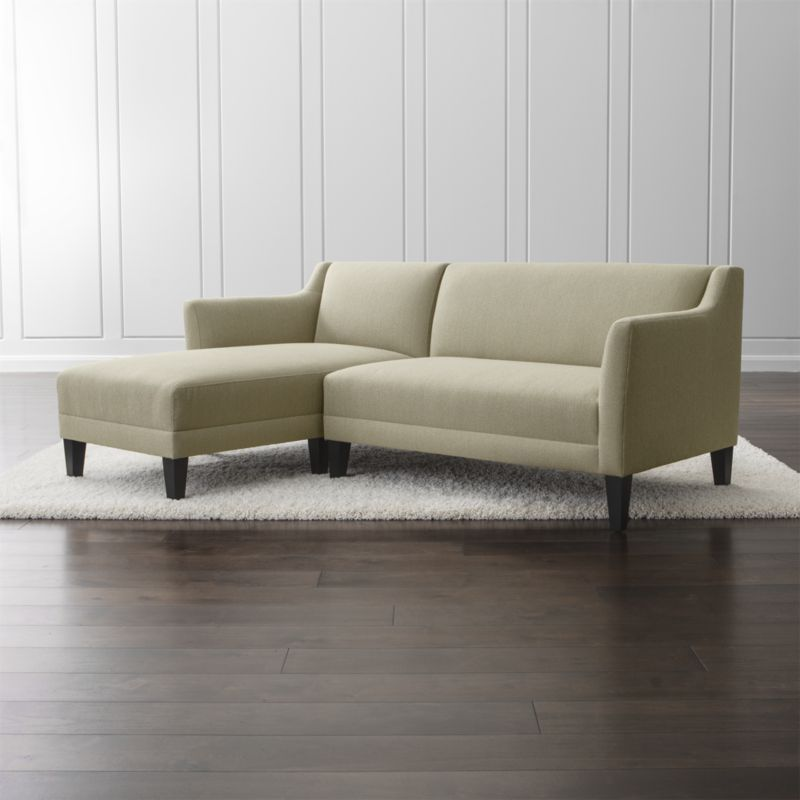 Shop Margot 2 Piece Sectional Sofa Margot S Tight Back Cushions And Bench Seats Upholstered In A Synthetic Fashion Statement Fabric 2 Piece Sectional Sofa Sectional Sofa Sofa