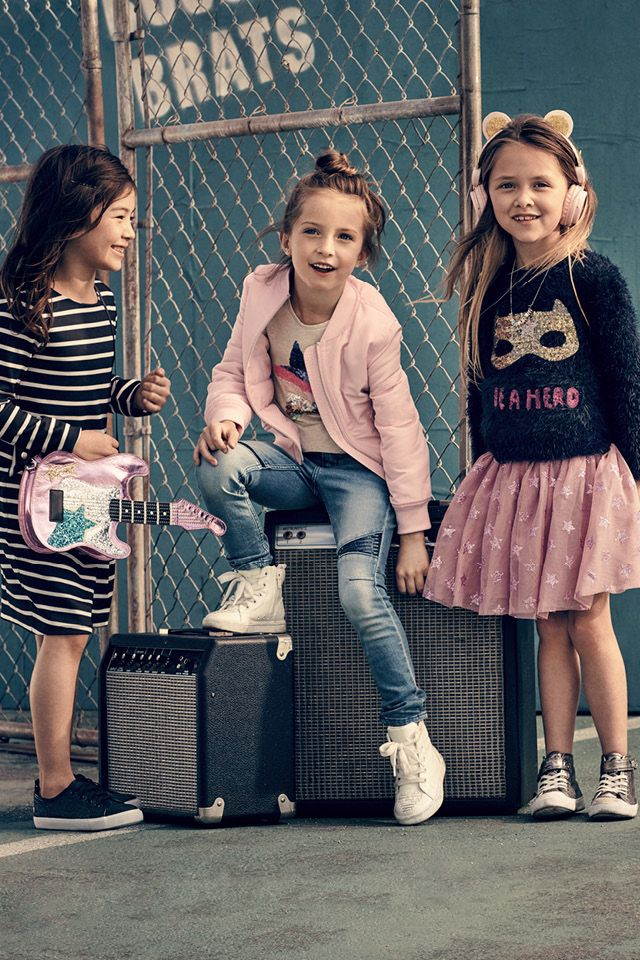 6a88ad8acf59 Back to school | H&M Kids | H&M KIDS | Little girl fashion, Kids ...