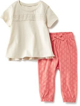 Tunic Tee and Printed Legging Set | Old Navy