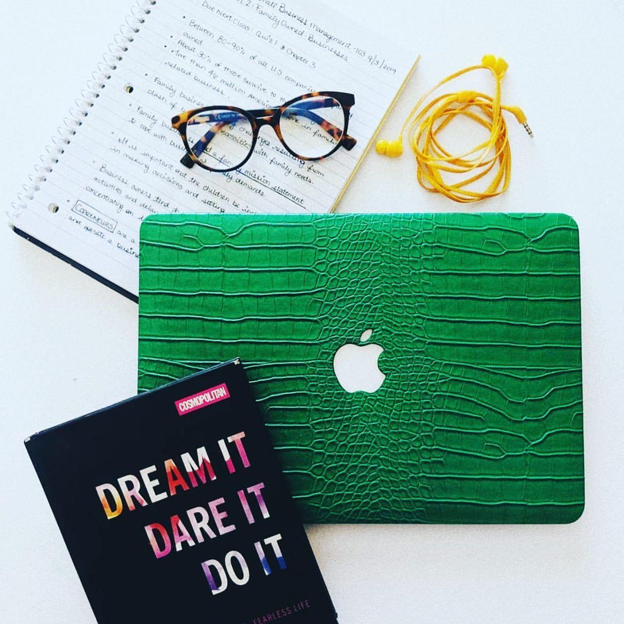 Emerald Faux Crocodile MacBook Case in 2020 Macbook case