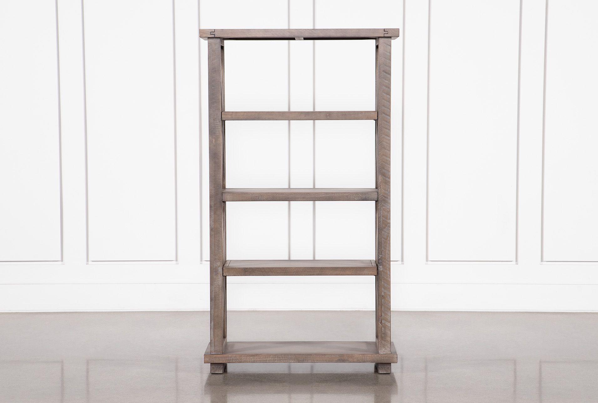 Jaxon Grey Bookcase 450 Bookcase Pine Shelves Grey Shelves