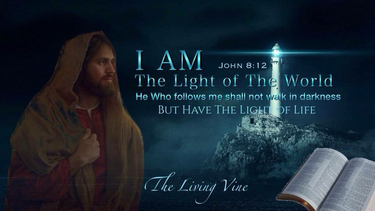 Scripture Light of the World | Am the Light of the World. John 8:12