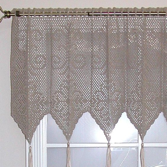 Patterns For Crocheted Curtains Crochet Curtain Free Pattern