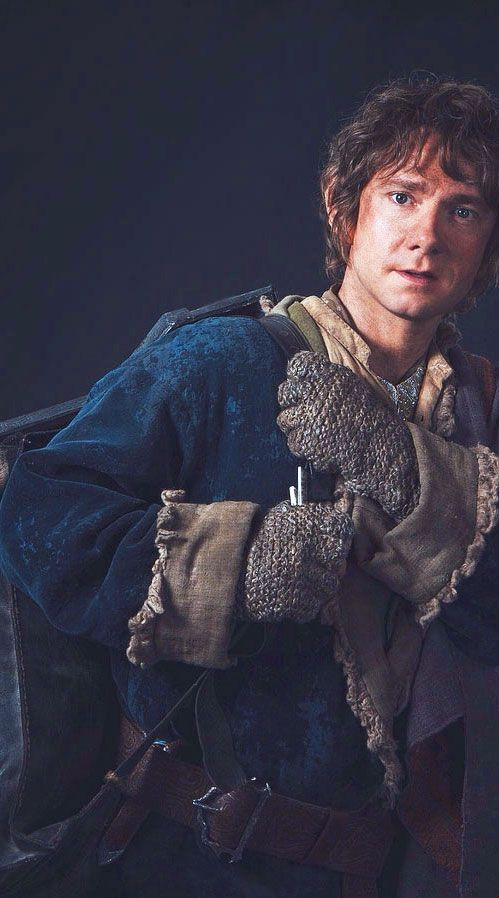 Martin Freeman as Bilbo Baggins, returning to the Shire, from The Hobbit: The Battle of the Five Armies Visual Companion.