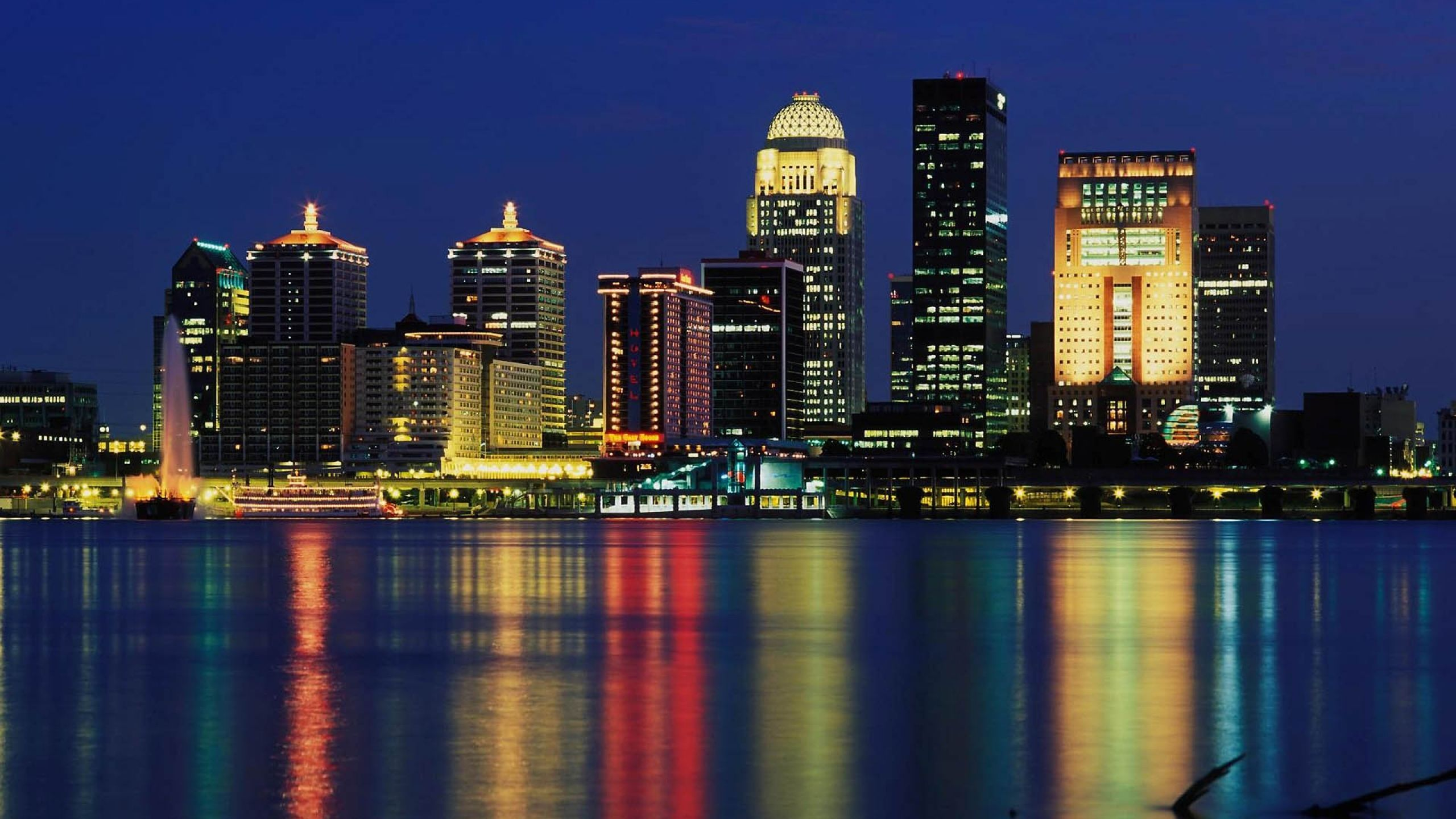 Wallpaper Louisville Download Wallpaper 2560x1440 Louisville Skyline Usa Skyscraper