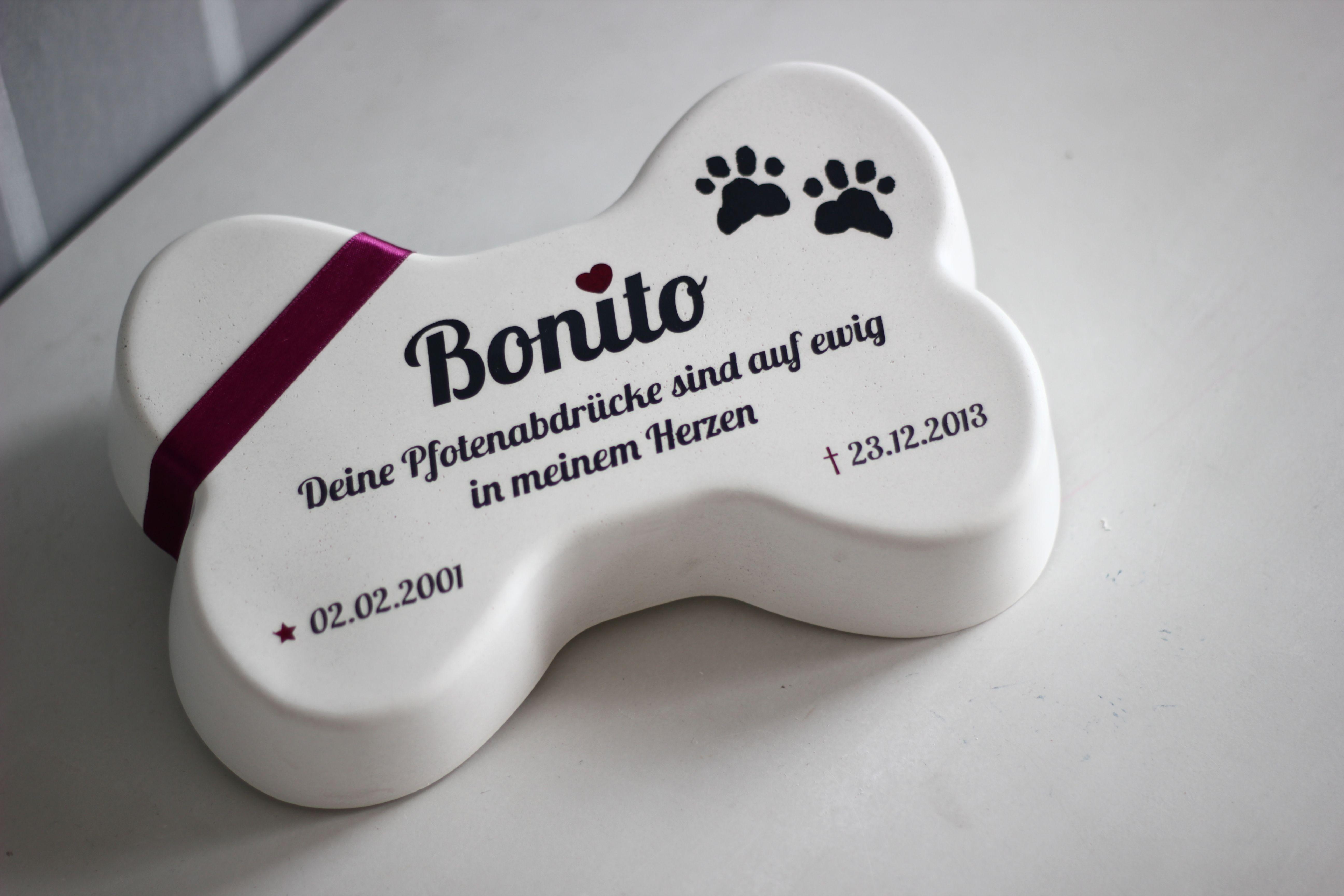 Gedenkstein Oder Grabschmuck Hund Mit Individuelller