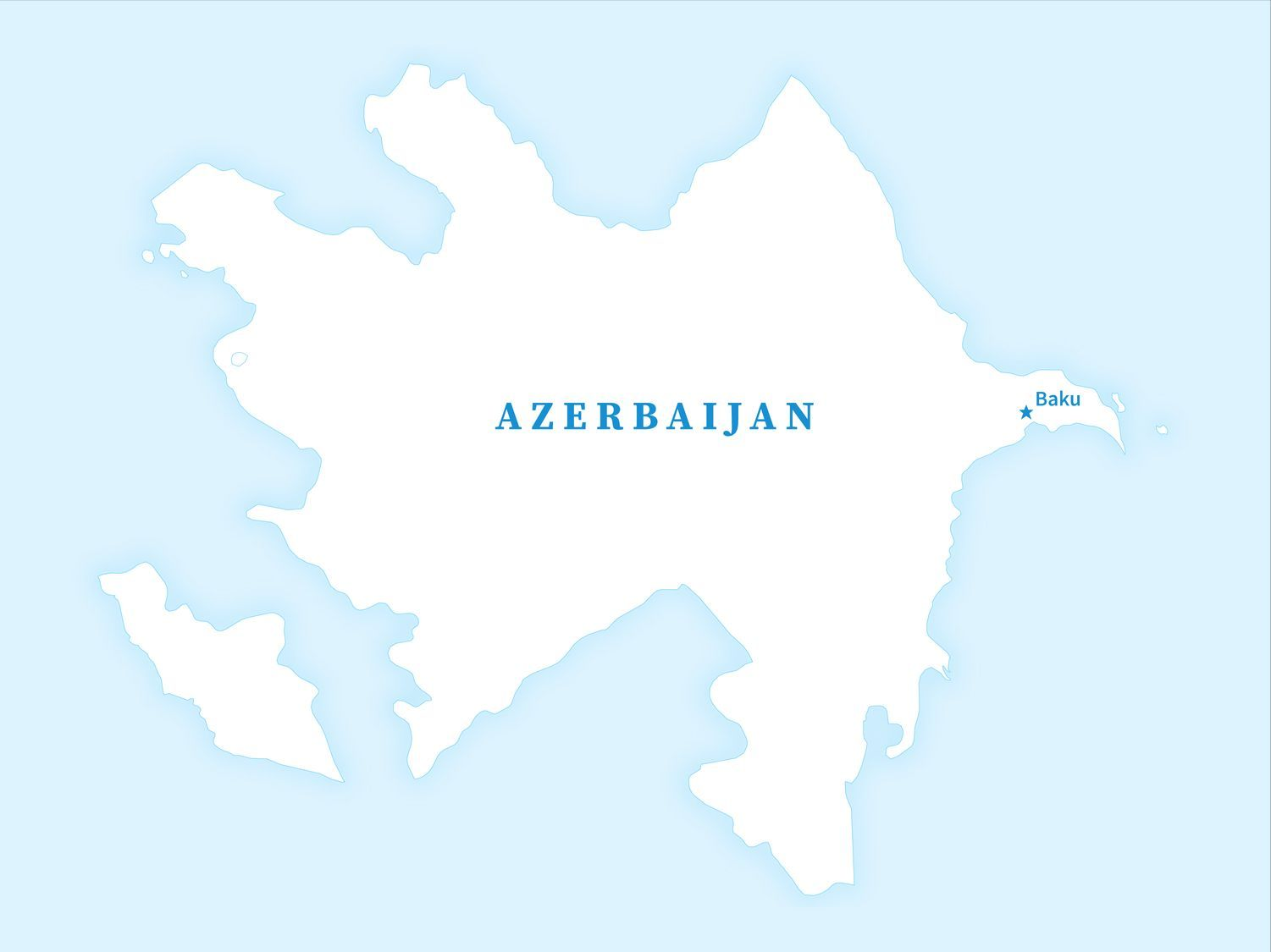 Free Map Of Azerbaijan Outline In 2020 Country Maps Free Maps Map
