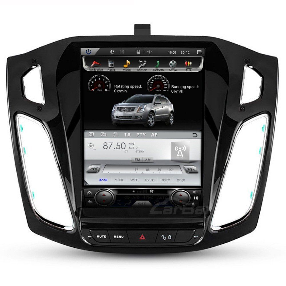 "10.4"" Tesla-style Vertical Screen Android Navi Radio for Ford Focus 2011  2012 2013 2014 2015 2016"