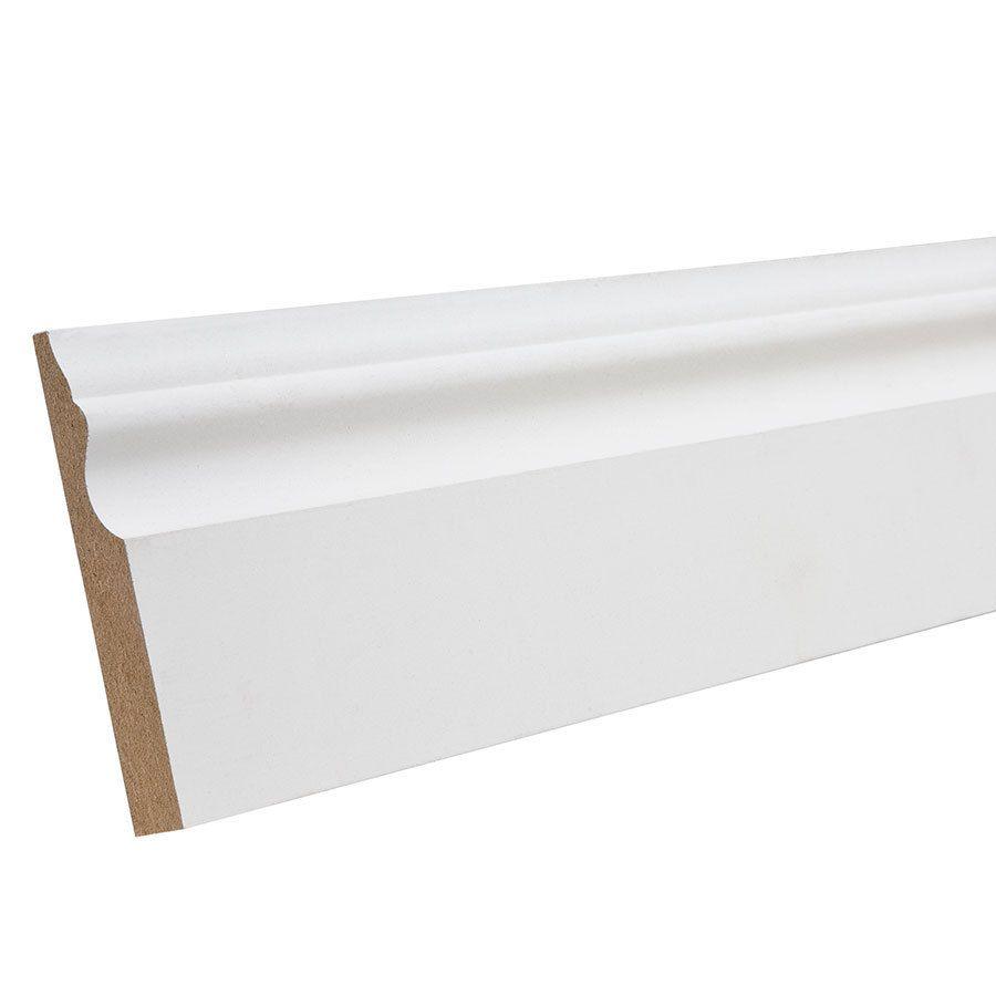 3 1 4 In X 12 Ft Primed Mdf Baseboard Moulding Lowes Com Baseboard Moulding Baseboards Baseboard Molding