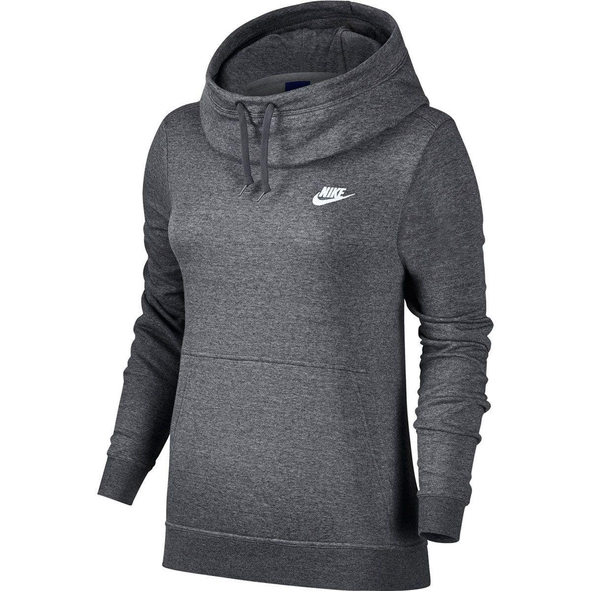 Nike Women S Nsw Fleece Funnel Neck Pullover Hoodie Bob S Stores Funnel Neck Hoodie Nike Sportswear Women Sportswear Women [ 1200 x 1200 Pixel ]