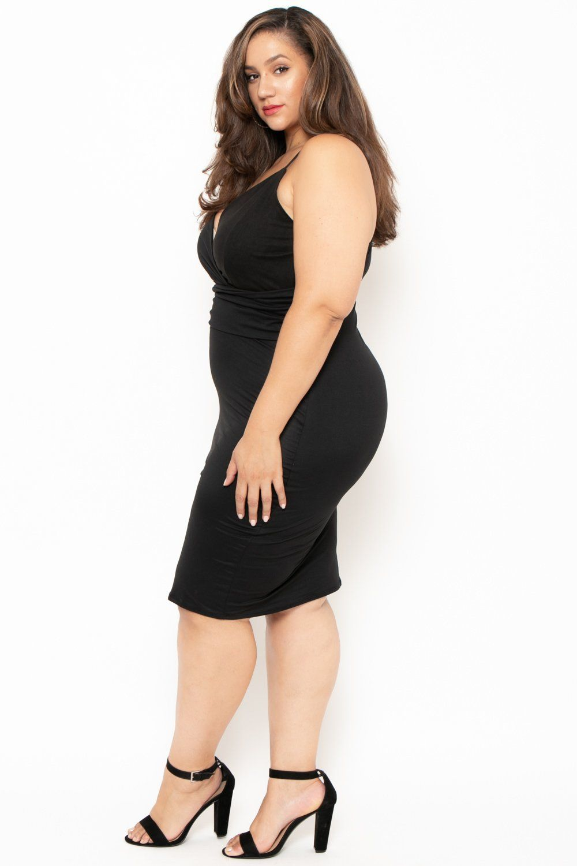 119f79a6fff Plus Size Cami Strap Sophie Dress - Black - Curvy Sense