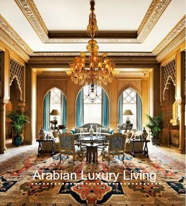 Arabian Luxury Living The display of social status differ from one part of the Arab world to the other. Since this is a complicated subject, I am only going to focus on the tendency to show off through interior design... http://homesynchronize.com/2014/11/arabian-luxury-living