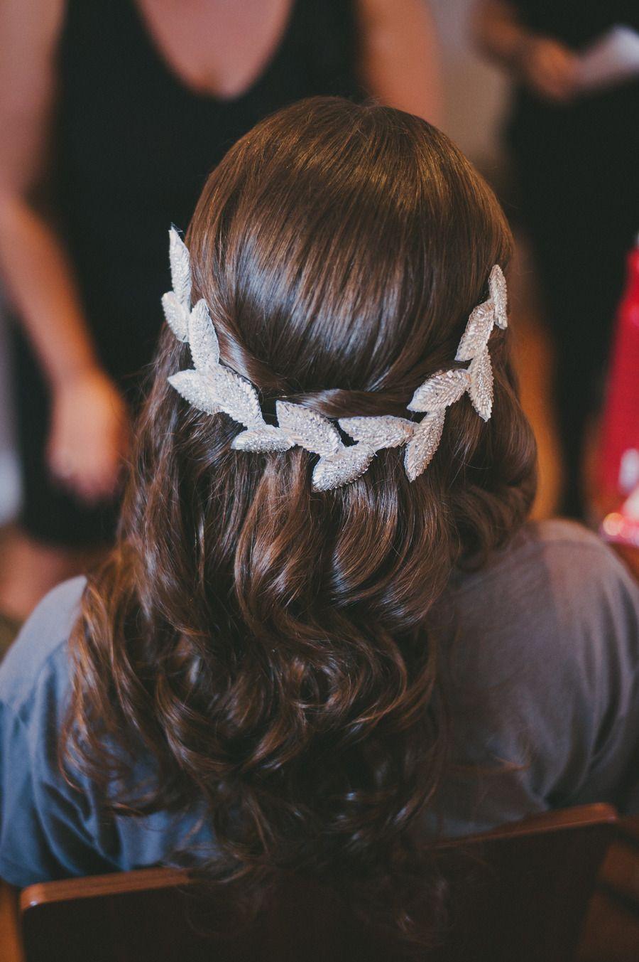 Beautiful hair piece | Modern Rhode Island Wedding by Alexandra Roberts  Read more - http://www.stylemepretty.com/massachusetts-weddings/2013/09/18/modern-rhode-island-wedding-by-alexandra-roberts/
