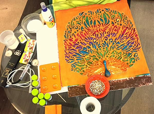 Materials required for Mixed Media... 1.Fevicryl Acrylic Colors 2 ...