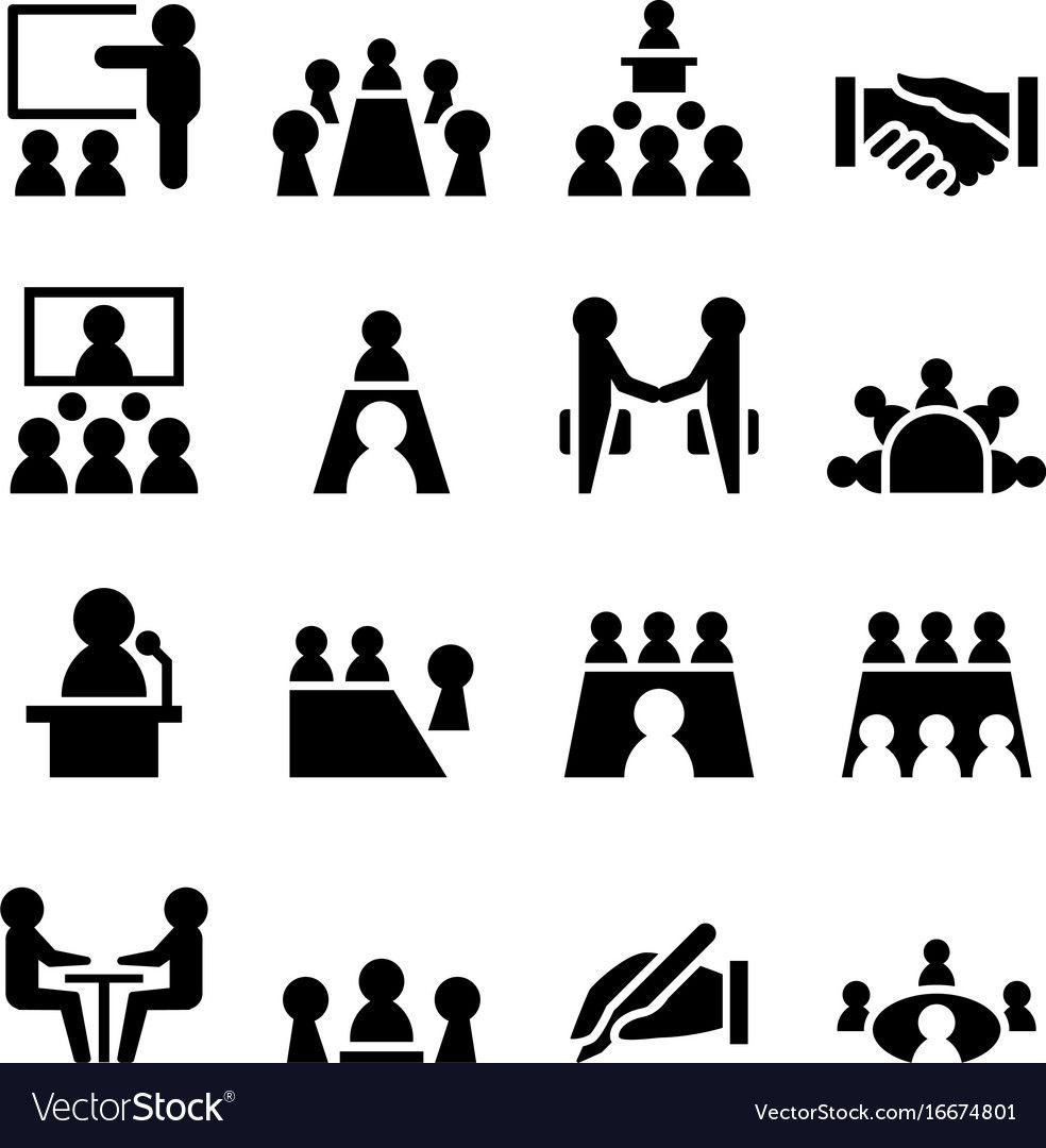Meeting Conference Icon Royalty Free Vector Image Sponsored Icon Conference Meeting Royalty Ad Waves Icon Library Icon Hospital Icon