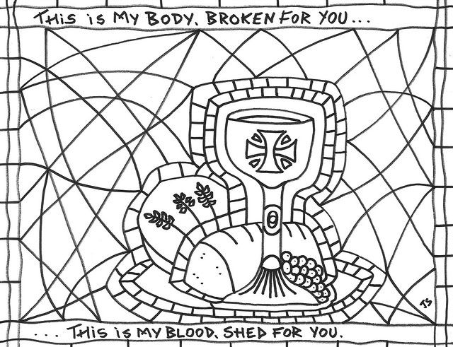 Communion Coloring Page Sunday School Coloring Pages, Coloring Pages,  Communion