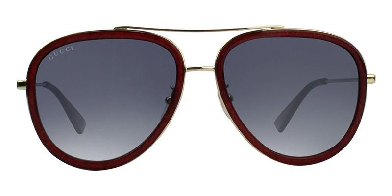 04a83dc0d92 Gucci GG0062S Red Gold   Blue Lens Sunglasses – shadesdaddy