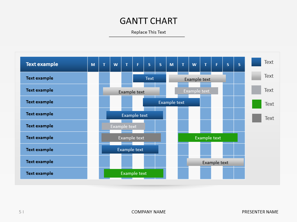 Gantt Chart Presentation Slide Powerpoint Timeline Timelines And