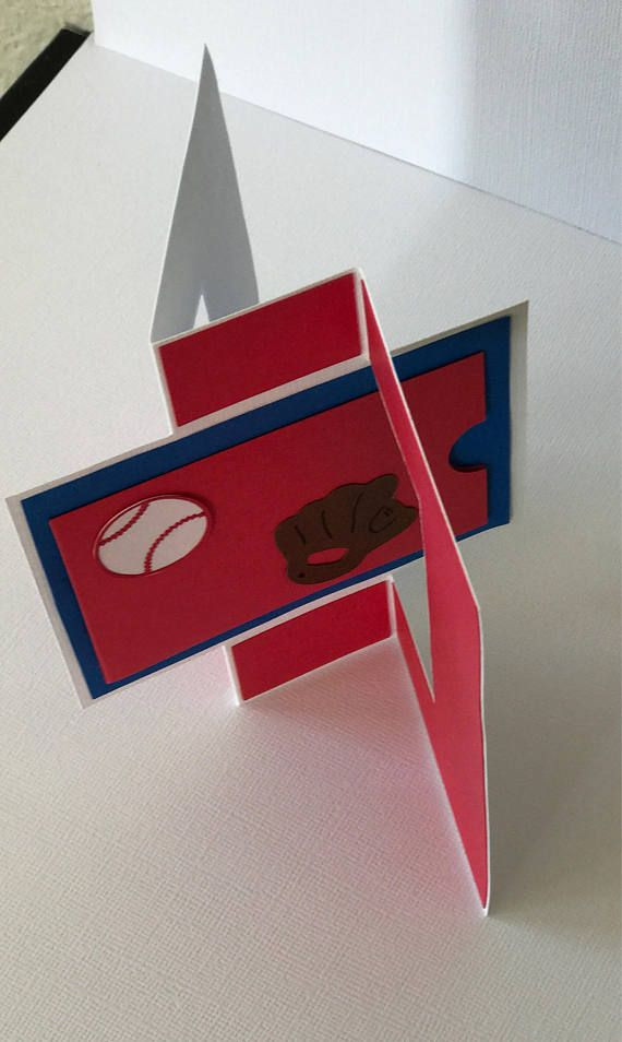This Baseball Birthday Cardgift Card Holder Adds A Special Touch