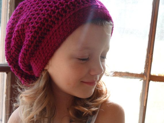 13bbc74a4f7 Crochet Slouchy Slouch Beanie Hat - Custom Colors - Newborn Baby Infant Toddler  Child Kids Children Youth Girls Boys - Accessories on Etsy