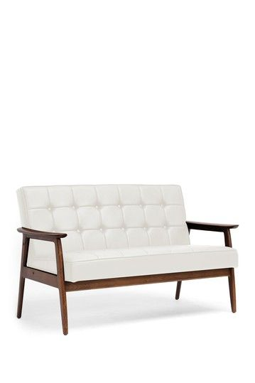 Stratham White Mid Century Modern Sofa By Wholesale Interiors On