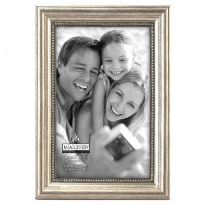 Malden Classic Wood Silver Bead Picture Frame Picture Frame