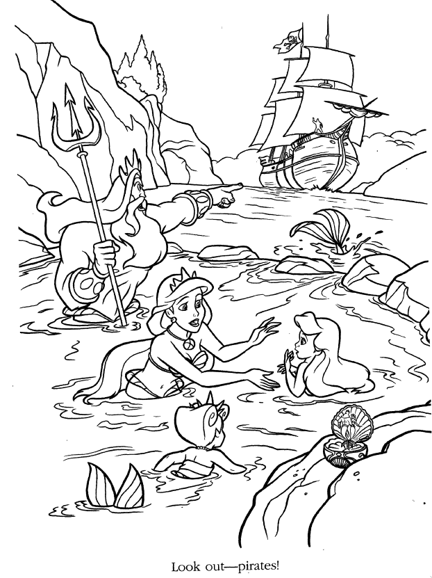 Ariel coloring pages - Google-søgning | Little Mermaid Colouring ...