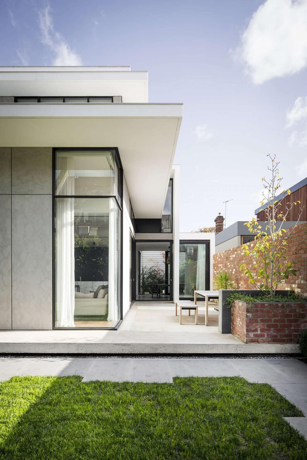 Armdale house urban garden design inspiration patio pinterest