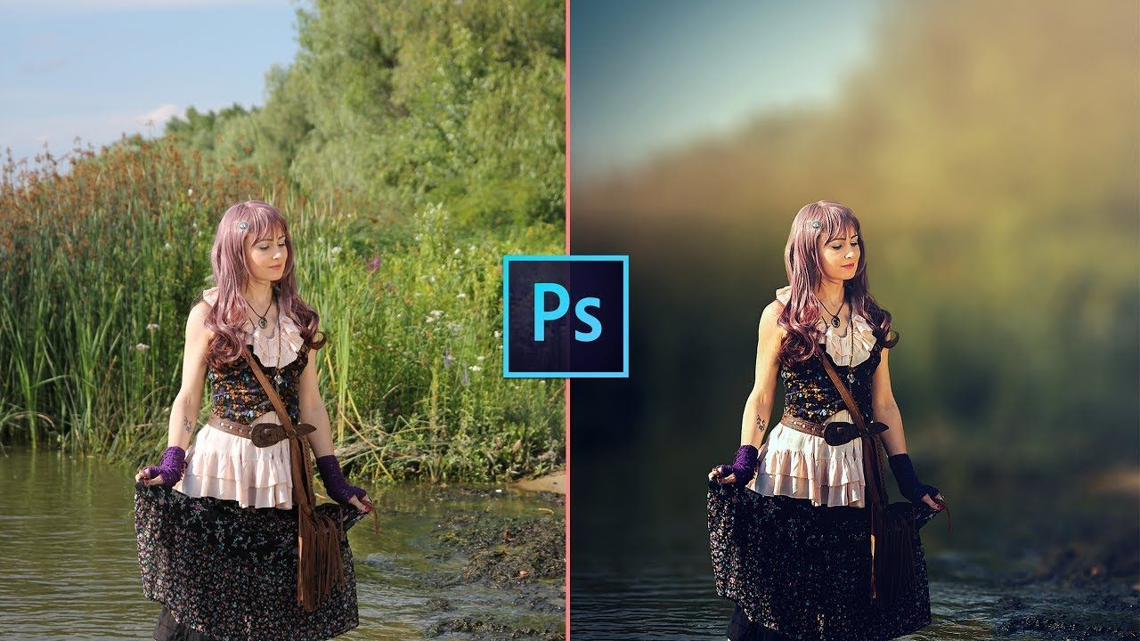Cc Tutorial Photoshop Cc Tutorial Fantasy Girl Dreamy Effects Outdoor