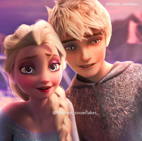 modern_snowflakes_ Jelsa Edit I love the eyes!!!