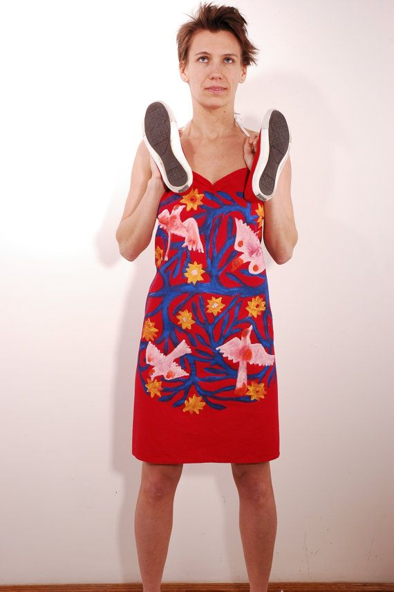 Apron upcycled into summer dress