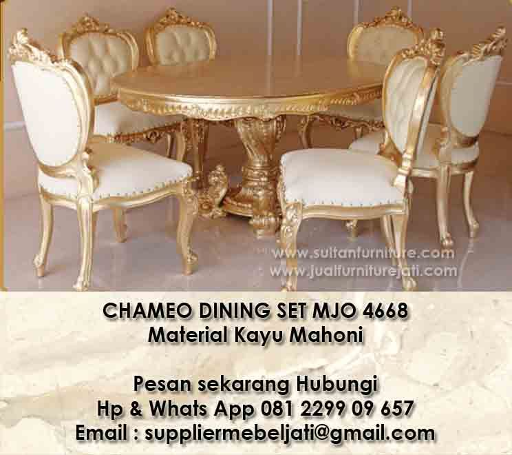 Furniture Modern Klasik French Jepara Furniture Indonesia Meja Makan Chamoe Klasik Modern Indonesia