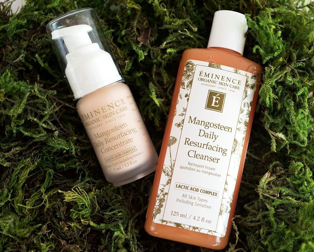 Eminence Organics Daily Resurfacing Cleanser And Concentrate Perfect Addition To The Stone Crop Li Cruelty Free Skin Care Eminence Organic Skin Care Skin Care