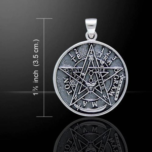 Tetragrammaton pendant in 925 solid sterling silver seal of tetragrammaton pendant 925 solid sterling silver seal of solomon magick amulet mozeypictures Gallery
